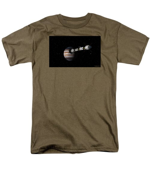 Uss Savannah Approaching Jupiter Men's T-Shirt  (Regular Fit) by David Robinson