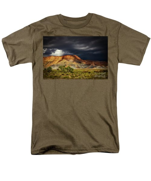 Utah Mountain With Storm Clouds Men's T-Shirt  (Regular Fit)