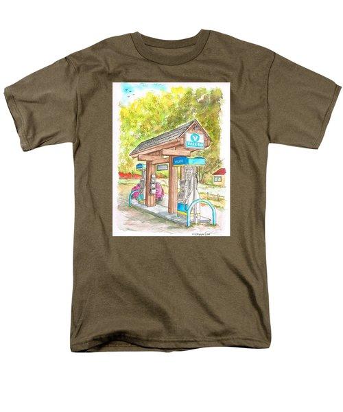 Valero Gas Station In Big Sur, California Men's T-Shirt  (Regular Fit) by Carlos G Groppa