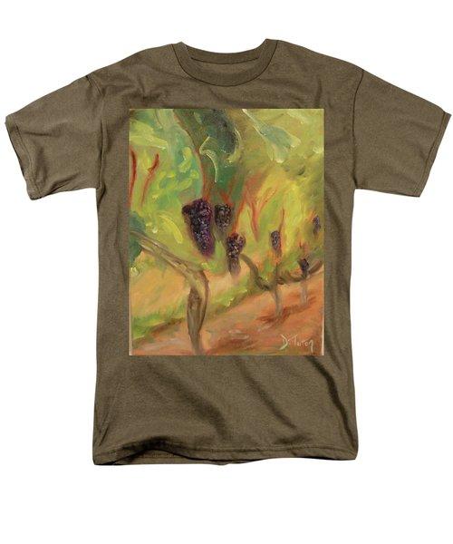 Men's T-Shirt  (Regular Fit) featuring the painting Valhalla Vineyard by Donna Tuten