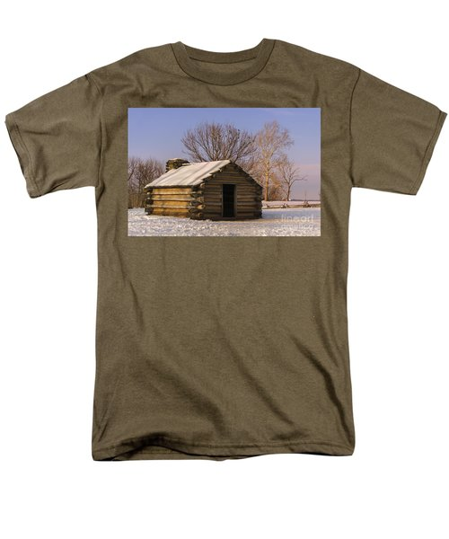 Valley Forge Cabin At Sunset Men's T-Shirt  (Regular Fit) by Rima Biswas