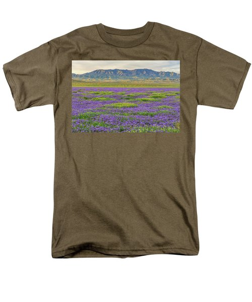 Valley Phacelia And Caliente Range Men's T-Shirt  (Regular Fit) by Marc Crumpler