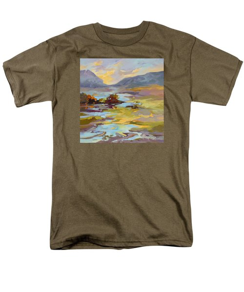 Men's T-Shirt  (Regular Fit) featuring the painting Valley Vantage Point by Rae Andrews