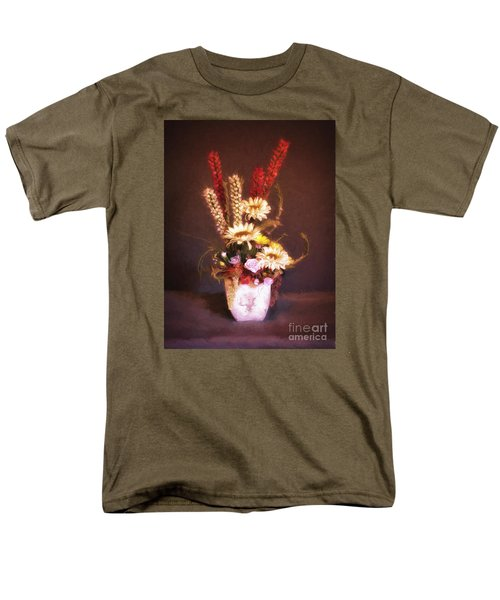 Men's T-Shirt  (Regular Fit) featuring the photograph Vase With Flowers  ... by Chuck Caramella