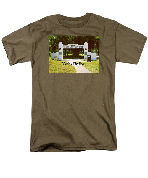 Men's T-Shirt  (Regular Fit) featuring the photograph Venice Army Air Force by Gary Wonning