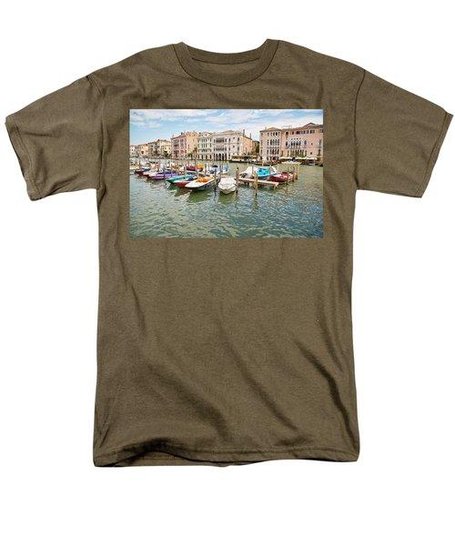 Men's T-Shirt  (Regular Fit) featuring the photograph Venice Boats by Sharon Jones