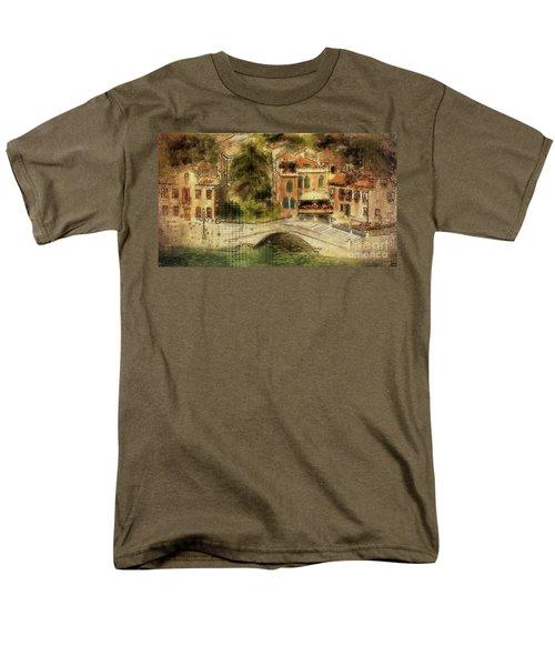 Venice City Of Bridges Men's T-Shirt  (Regular Fit) by Lois Bryan