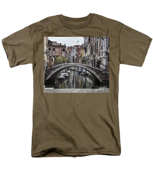 Men's T-Shirt  (Regular Fit) featuring the photograph Venice Crossing by Shirley Mangini