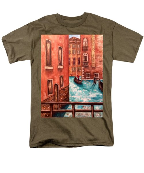 Venice Men's T-Shirt  (Regular Fit) by Annamarie Sidella-Felts