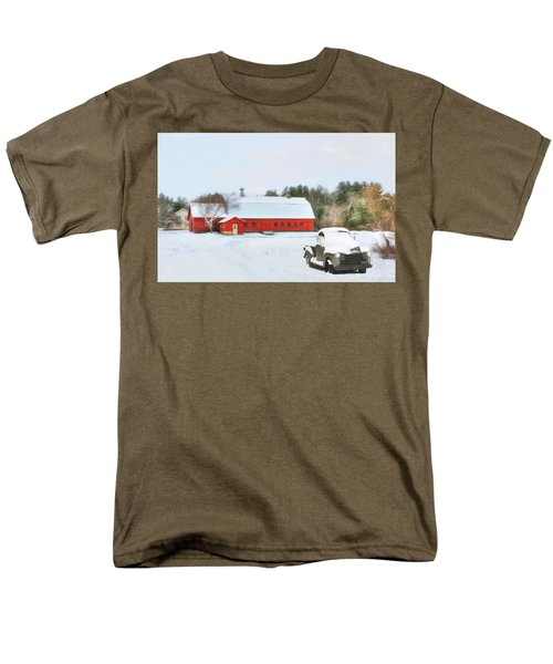 Men's T-Shirt  (Regular Fit) featuring the digital art Vermont Memories by Sharon Batdorf