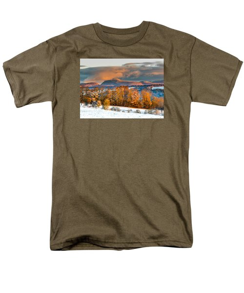 Vermont Snowliage Scene Men's T-Shirt  (Regular Fit) by Tim Kirchoff