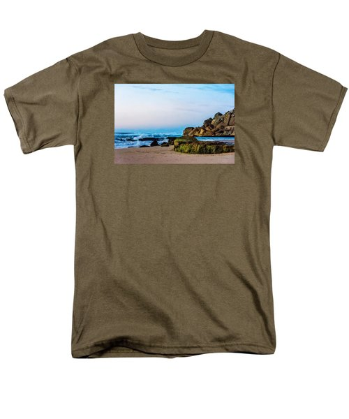 Men's T-Shirt  (Regular Fit) featuring the photograph Vibrant Seascape At Twilight by Marion McCristall