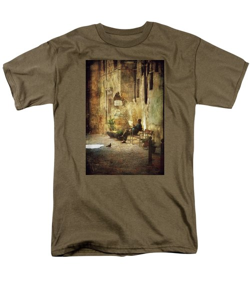 Vicolo Chiuso   Closed Alley Men's T-Shirt  (Regular Fit) by Vittorio Chiampan