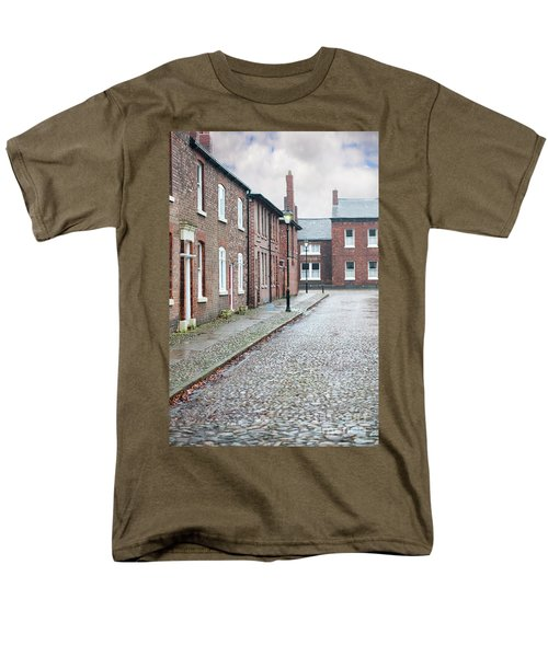Victorian Terraced Street Of Working Class Red Brick Houses Men's T-Shirt  (Regular Fit) by Lee Avison