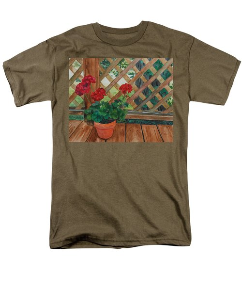 View From A Deck Men's T-Shirt  (Regular Fit) by Lynne Reichhart