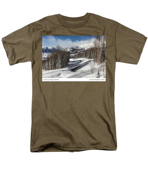 View From A Mountain Above Telluride In Colorado Men's T-Shirt  (Regular Fit) by Carol M Highsmith