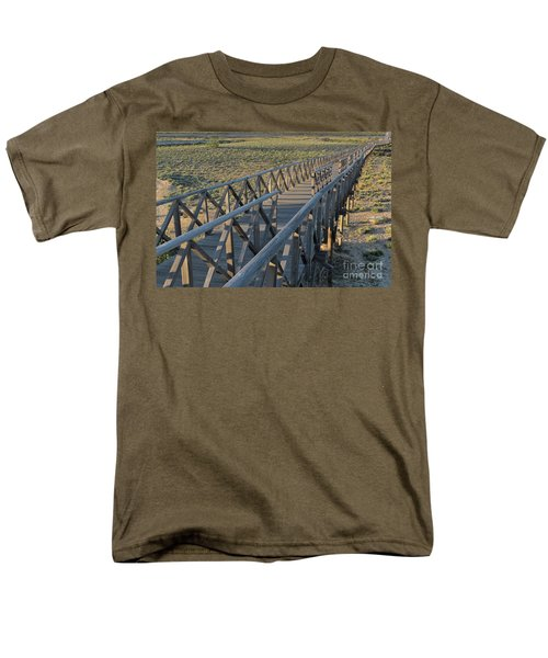 View Of The Wooden Bridge In Quinta Do Lago Men's T-Shirt  (Regular Fit) by Angelo DeVal