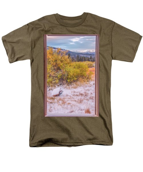 View Out Of A Broken Window Men's T-Shirt  (Regular Fit) by Marc Crumpler