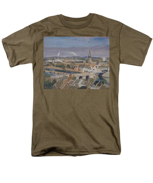 View To The East Bank Of Maastricht Men's T-Shirt  (Regular Fit)