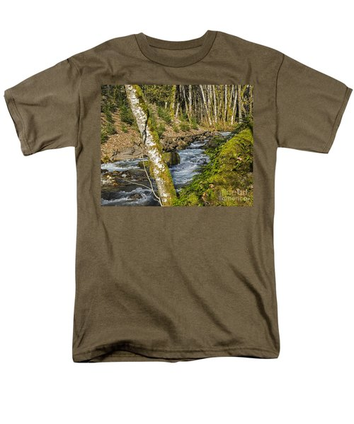 Views Of A Stream, I Men's T-Shirt  (Regular Fit) by Chuck Flewelling