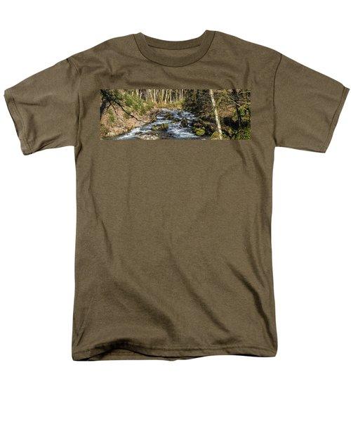 Views Of A Stream, II Men's T-Shirt  (Regular Fit) by Chuck Flewelling
