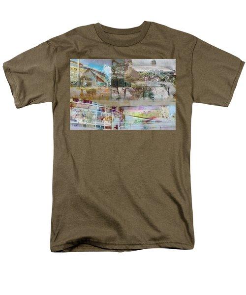 Vikings Stadium Collage 2 Men's T-Shirt  (Regular Fit) by Susan Stone