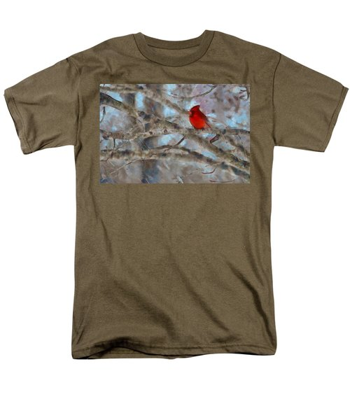 Men's T-Shirt  (Regular Fit) featuring the mixed media Vincent by Trish Tritz