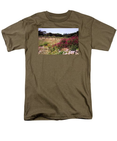 vines and flower SF peninsula Men's T-Shirt  (Regular Fit) by Ted Pollard