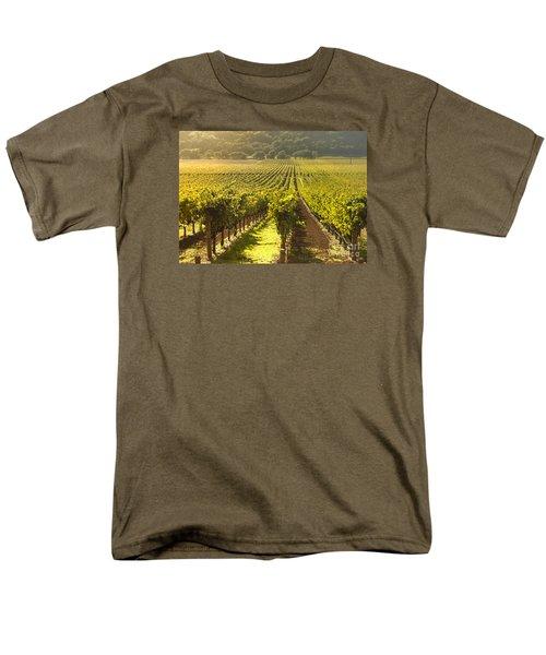 Vineyard In Napa Valley Men's T-Shirt  (Regular Fit) by Diane Diederich