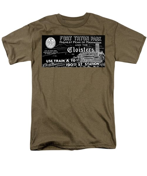 Vintage Cloisters And Fort Tryon Park Poster Men's T-Shirt  (Regular Fit) by Cole Thompson