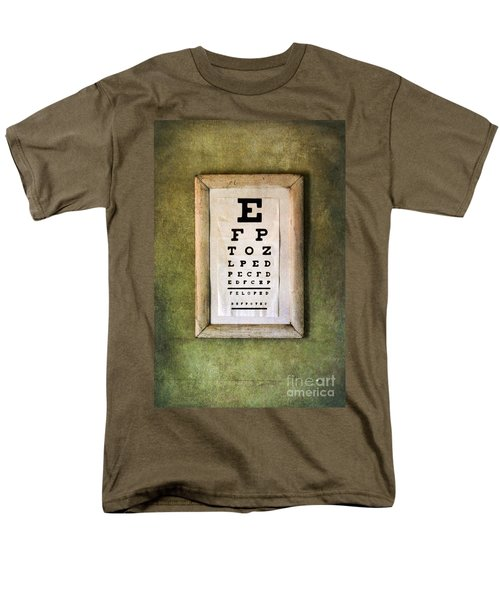 Vintage Eye Chart Men's T-Shirt  (Regular Fit) by Jill Battaglia