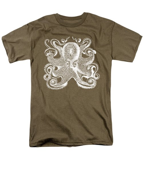 Men's T-Shirt  (Regular Fit) featuring the digital art Vintage Octopus Illustration by Edward Fielding