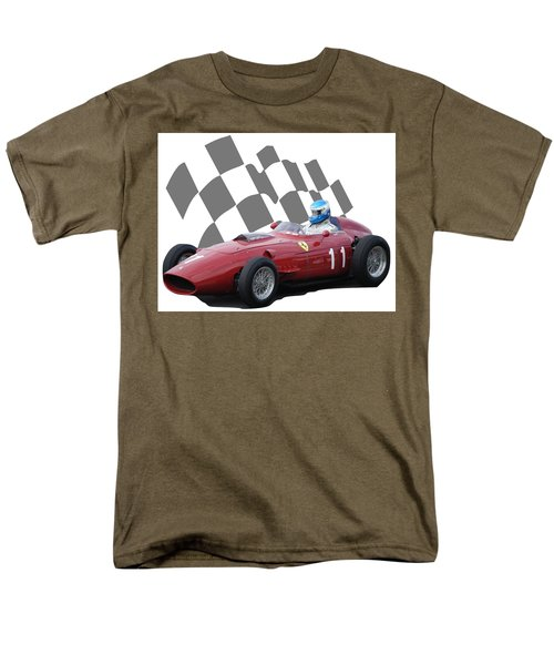 Vintage Racing Car And Flag 2 Men's T-Shirt  (Regular Fit) by John Colley