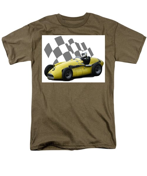 Vintage Racing Car And Flag 4 Men's T-Shirt  (Regular Fit) by John Colley