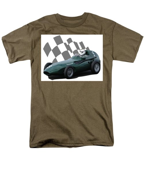 Vintage Racing Car And Flag 5 Men's T-Shirt  (Regular Fit) by John Colley