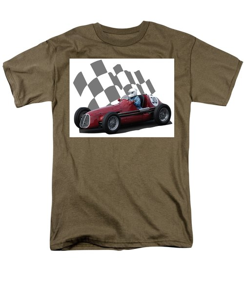 Vintage Racing Car And Flag 6 Men's T-Shirt  (Regular Fit) by John Colley