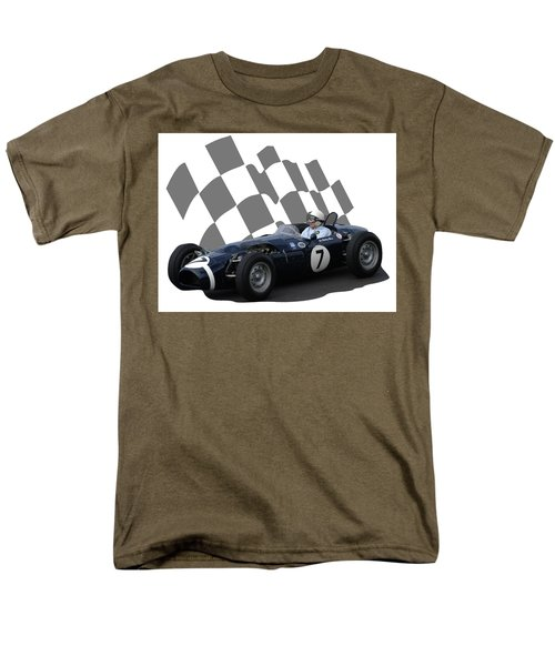 Vintage Racing Car And Flag 8 Men's T-Shirt  (Regular Fit) by John Colley