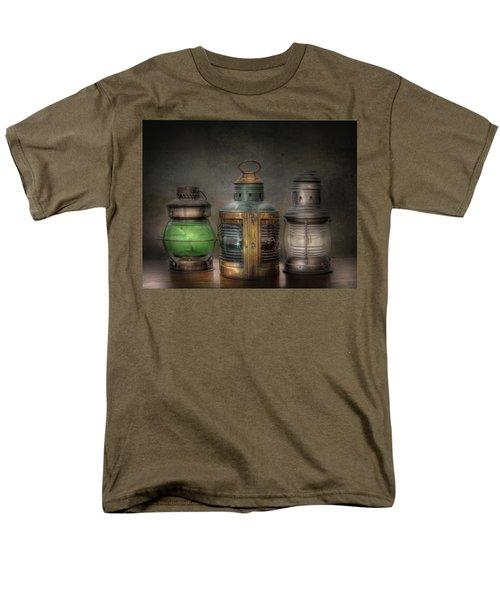 Vintage Railroad Oil Lamps Men's T-Shirt  (Regular Fit) by David and Carol Kelly