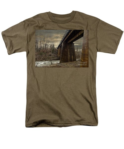 Men's T-Shirt  (Regular Fit) featuring the photograph Vintage Railroad Trestle by Melissa Messick