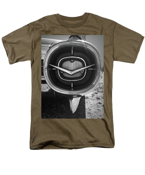 Vintage Tail Fin In Black And White Men's T-Shirt  (Regular Fit) by Kelly Hazel