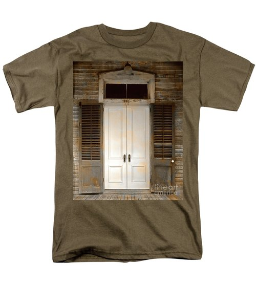Vintage Tropical Weathered Key West Florida Doorway Men's T-Shirt  (Regular Fit) by John Stephens
