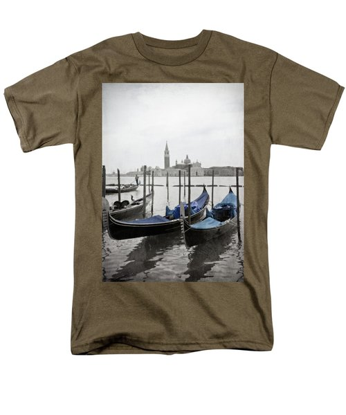 Vintage Venice In Black, White, And Blue Men's T-Shirt  (Regular Fit) by Brooke T Ryan