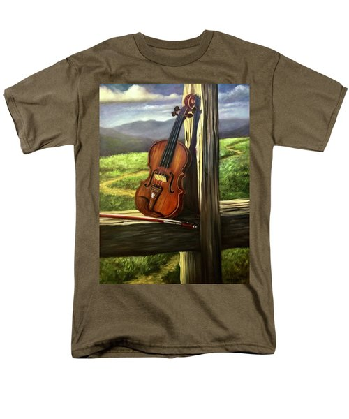 Men's T-Shirt  (Regular Fit) featuring the painting Violin by Randol Burns