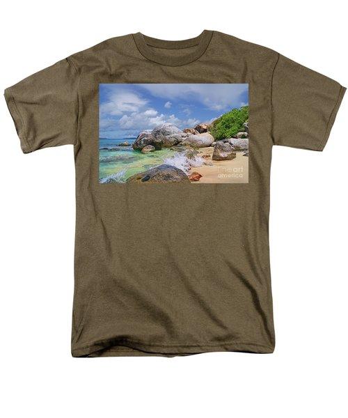 Men's T-Shirt  (Regular Fit) featuring the photograph Virgin Gorda The Baths by Olga Hamilton