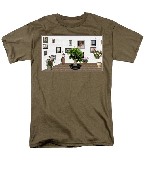 Virtual Exhibition -  Bonsai 13 Men's T-Shirt  (Regular Fit) by Pemaro