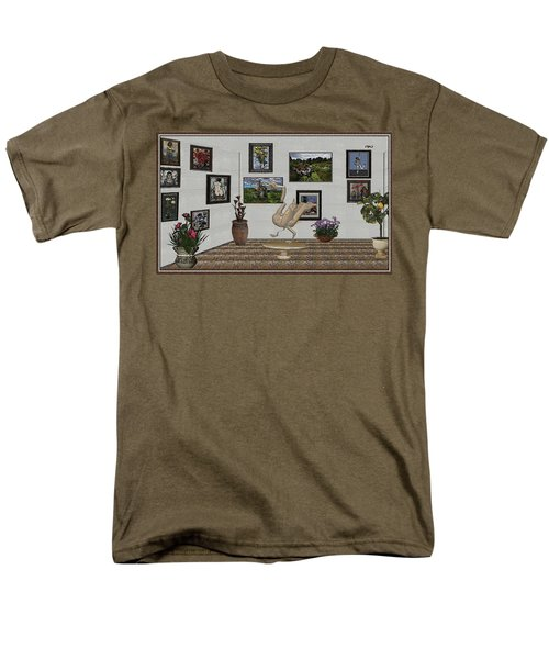 Men's T-Shirt  (Regular Fit) featuring the mixed media virtual exhibition_Statue of swan 23 by Pemaro