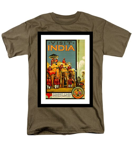 Visit India The Great Indian Peninsula Railway 1920s By A R Acott Men's T-Shirt  (Regular Fit) by Peter Gumaer Ogden Collection