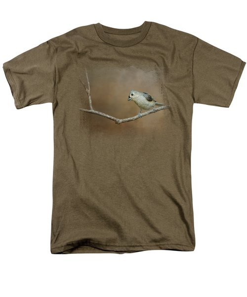 Visiting Tufted Titmouse Men's T-Shirt  (Regular Fit) by Jai Johnson