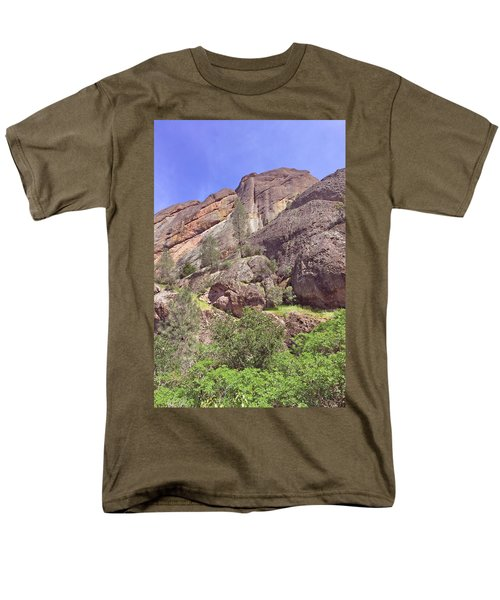 Men's T-Shirt  (Regular Fit) featuring the photograph Volcanic Colors by Art Block Collections