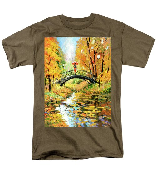 Men's T-Shirt  (Regular Fit) featuring the painting Waiting by Dmitry Spiros